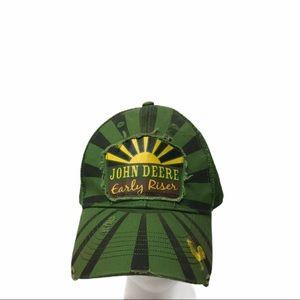 John Deere Early Riser Deer Snapback Hat Cap